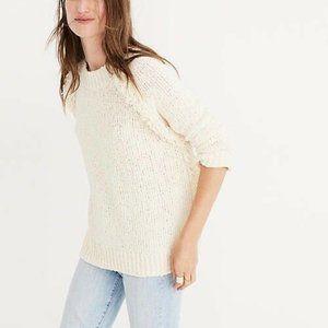 Madewell Ivory Loop Fringe Sweater Size Medium